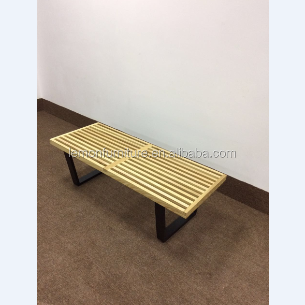 Foshan factory price carving wood bench replica designer furniture