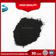 Wooden powdered activated carbon for cleaning fruit-sugar syrup