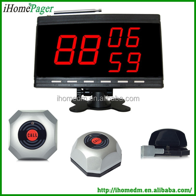 Fast food call buzzer system wireless table pager service