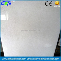 Chinese Natural Stone Polished Crystal White Marble 24x24 Tile