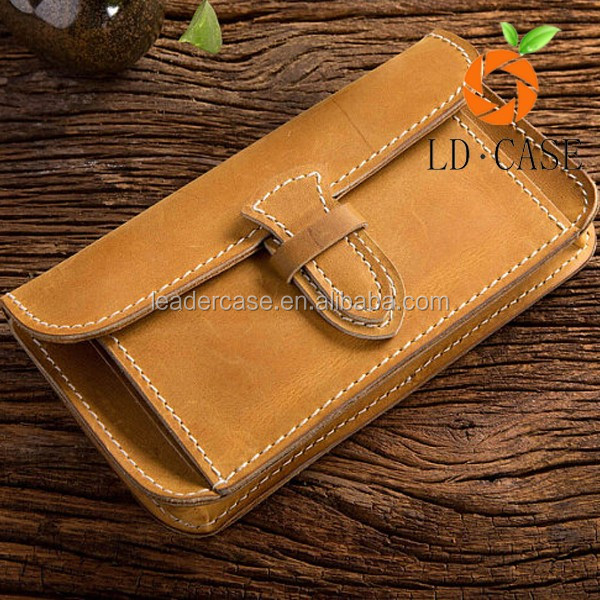 Crazy Horse Oil Wallet Leather Phone Pouch Case For iPhone 7 7 Plus