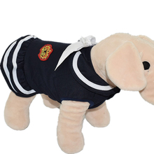 new arrival attractive cheap outdoor summer navy uniform cotton dog dress in stock