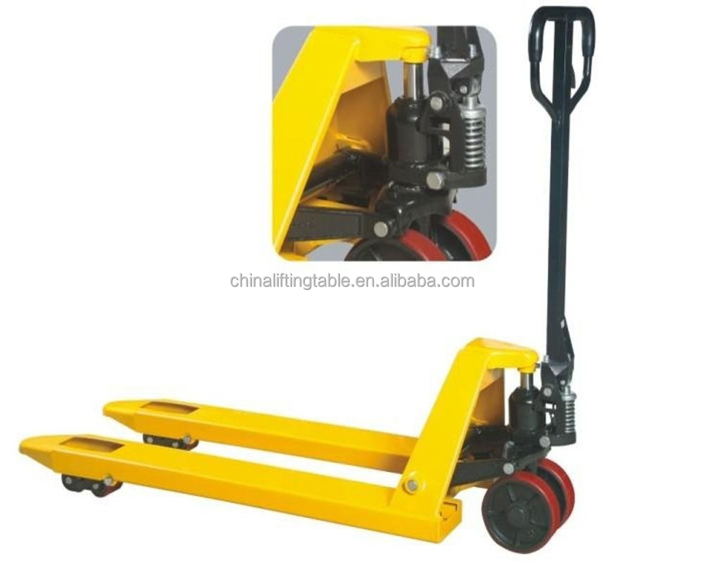 2500kg CE approved Manual Pallet Jack, hydraulic pump trolly, ac hand pallet truck