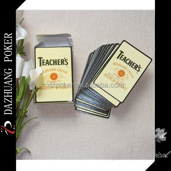 TEACHER'S HIGHLAND CREAM SCOTCH WHISKY PROMOTIONAL PLAYING CARDS