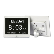 New arrival factory supply 8 inch memory loss digital calendar day clocks for elderly