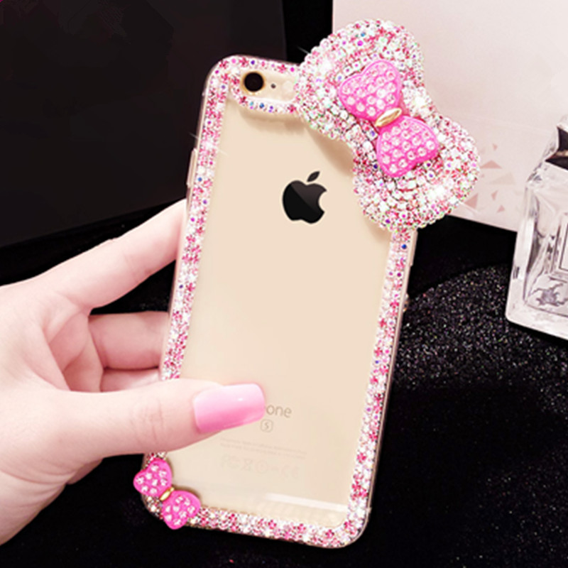 for iphone 6 for iphone 7 case luxury crystal bling hard mobile phone diamond cover