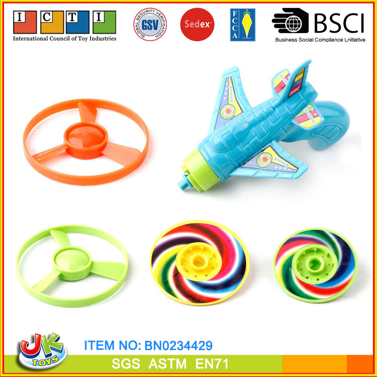 [JK TOYS] Classic Toy Kid Wind Up Spinning Top Gun