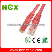 flexible flat patch cord cable with short body plug 1.4*6 pass fluke test