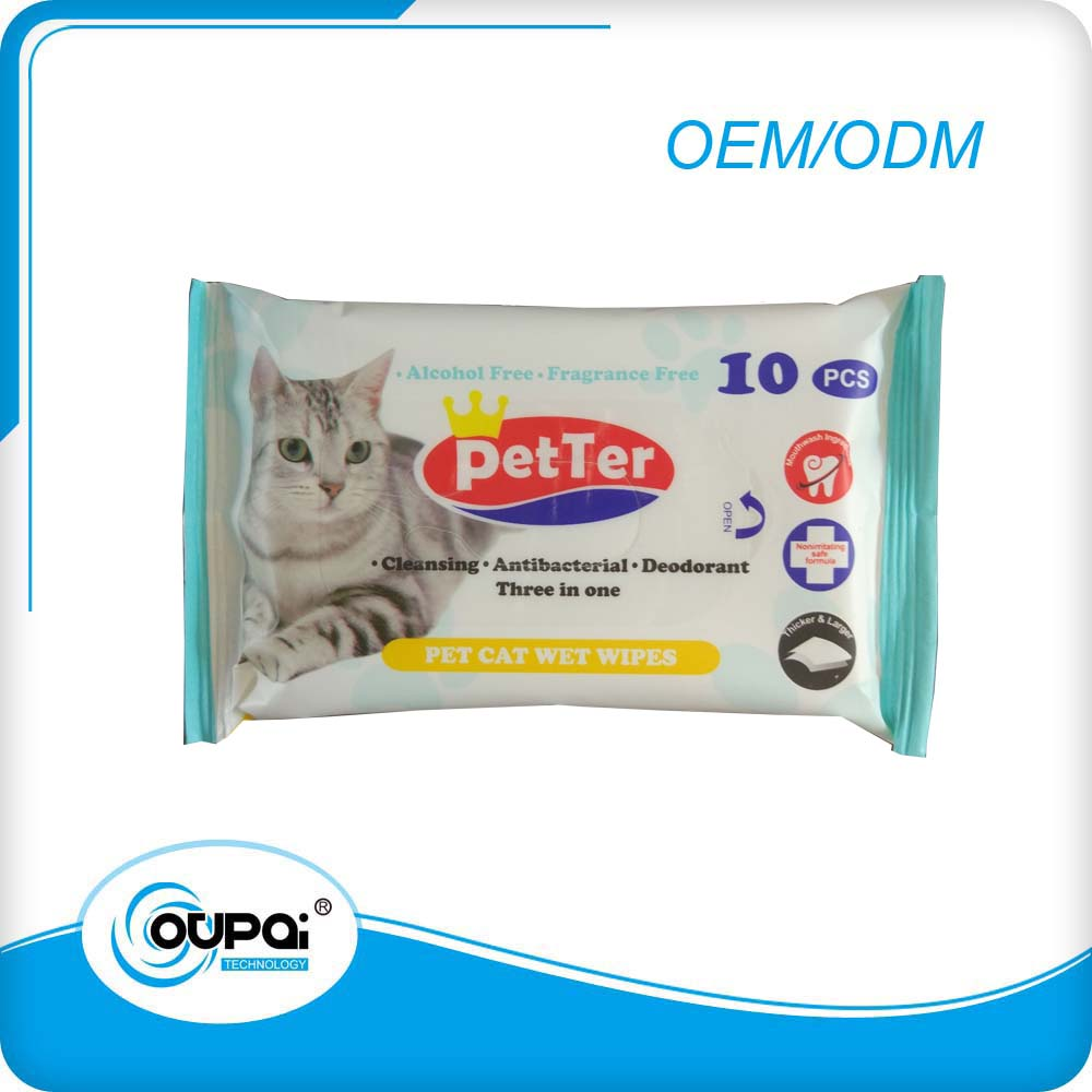 Customm OEM Antibacterial wet wipes/wet tissue/moist towelettes for pet