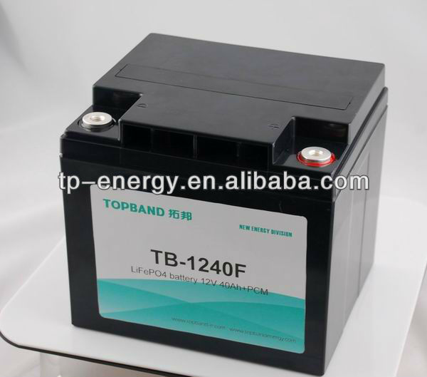 Lihtium Battery 12V 40Ah lifepo4 battery pack used for cars