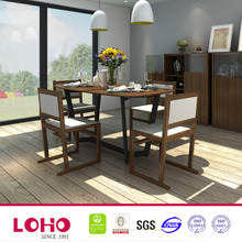 Farmer house Industrial wood metal frame new style dining table set