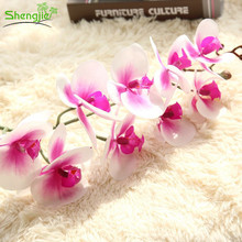 Top quality real touch flowers silk butterfly orchids stems