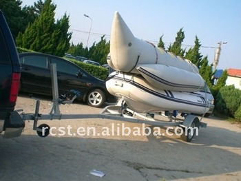 Inflatable small galvanized boat trailer