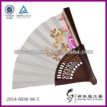 Personalized Woods Crafts Handheld Spanish Folding Fans