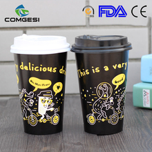 personalized free sample with lid sleeve cover wholesale flexo printing good looking design paper cup food grade