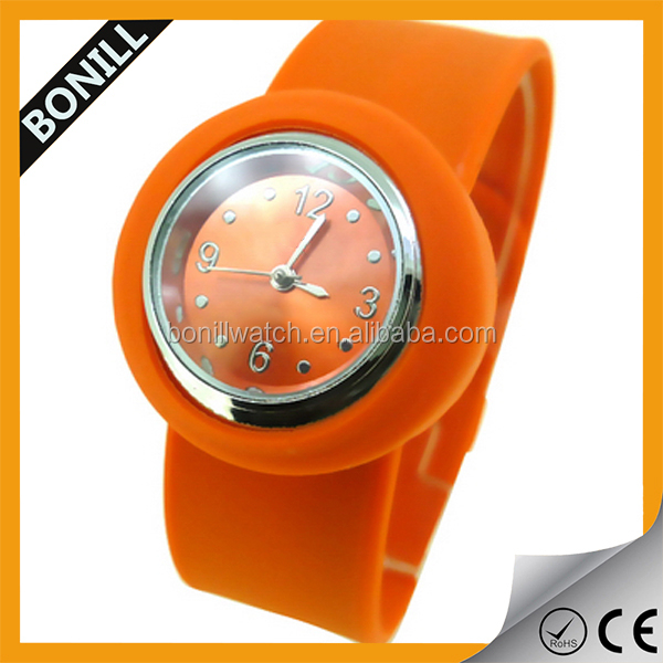 Attractive kids gift watch , silicon slap watches , best promotional gift for Child