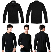 Dry Fit Long Sleeves Men's Polo Shirt Wholesale