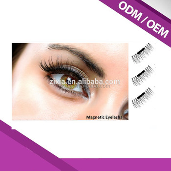 Selling 2017 3D Magnetic False Eye lashes 100% Handmade Natural Long Magnet Eyelashes Cross Thick Eyelash Extension