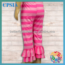 Cute Strip Printed Leggings Wholesale 2014 Spring Autumn Baby Legging Ruffled