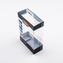 Custom transparent plastic packaging box wholesale for cell phone accessories