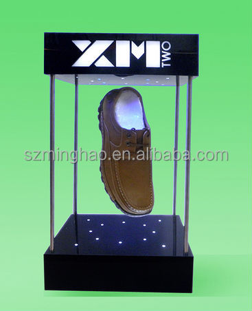 acrylic magnetic levitation shoes display stand, magnetic floating display stand