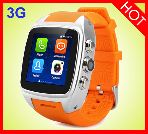 Smart X01 MTK6572 Dual Core 1.54 Inch WCDMA 3G android whatsapp Watch phone