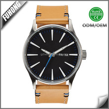 factory price direct sales date fashion leisure leather band men watch