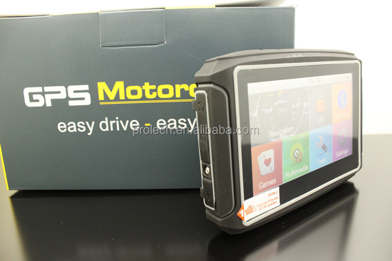 "4.3""TFT Touch Screen Waterproof Bluetooth Motorcycle Navigation 8GB Flash+ GPS Navigator With Romania India Map"