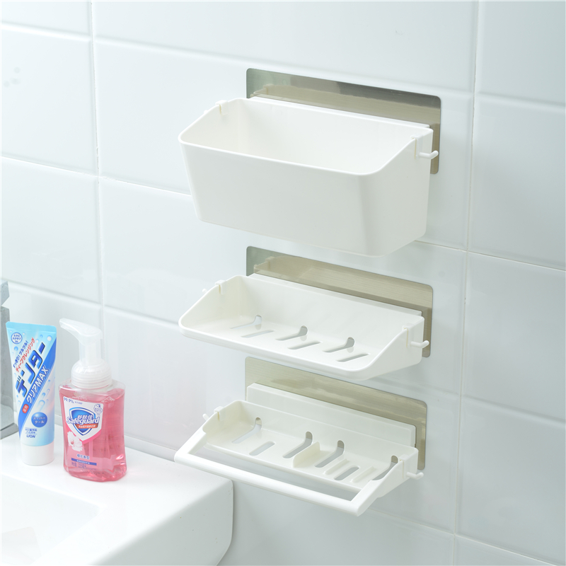 3 In 1 Bathroom Accessories Wall Mounted Plastic Bathroom Storage Rack    Buy Bathroom Rack,Bathroom Storage Rack,Plastic Bathroom Storage Rack  Product On ...