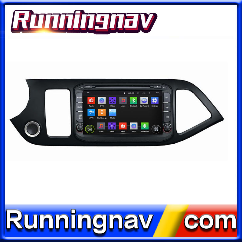 "8"" Android 5.1 For Kia Morning / Picanto 2014 2 Din Quad Core / Qcta Core HD Car DVD Player GPS Navigation Radio"