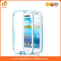 Phone case for samsung transparent tpu pc combo phone case