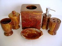 Natural Red onyx bathroom accessories