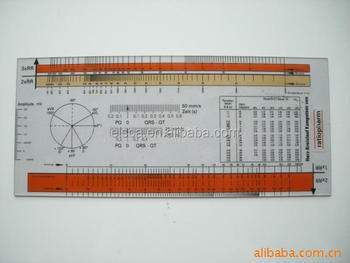 Excellent quality electrocardiogram (ecg) ruler pvc medical ruler