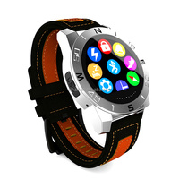 waterproof smart watch phone with heart rate, touch display sports watch