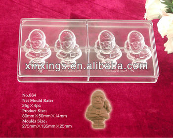Christmas chocolate mould/PC chocoate mold
