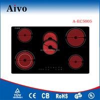 2016 Aivo Newest cooker 5 burner vitro ceramic hob Electric Hob Gas cooktop