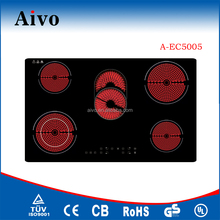 2016 Aivo Newest cooker 5 burner vitro ceramic hob Electric Hob Gas cooktop