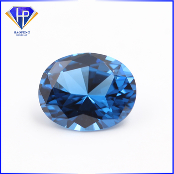Factory Wholesale Loose Aquamarine Dark Blue Spinel #107 Excellent Cut Oval Synthetic Spinel Gemstone