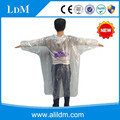 Custom comfortable transparent disposable raincoat for adult