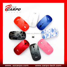 2014 Fashion new design useful ace-pad flat wireless custom computer mouse
