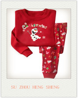 Girls Christmas Pajamas Cotton Stripe Reindeer Toddler Clothes Kids Pjs Children Sleepwear