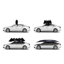 Black electric automatic sun shade wind-resistant car top umbrella with remote control wireless