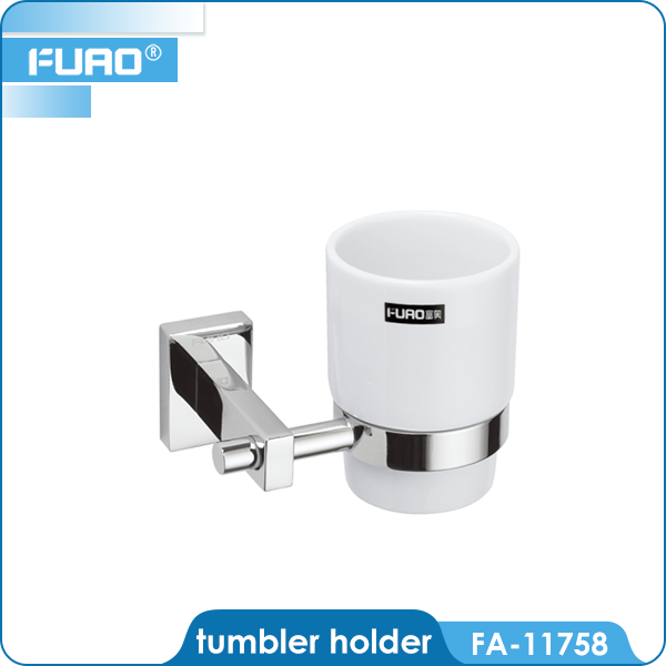 FUAO bathroom metal paper cup holder with handle