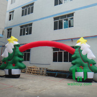 HI promotion advertising Hot sale Inflatable Christmas Tree Arch