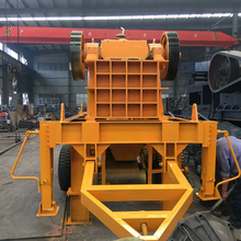 Small portable crusher/mobile jaw crushing plant with diesel engine