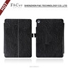 Classical black pu leather stand folio hand strap tablet case for iPad pro 9.7 inch with machine frame