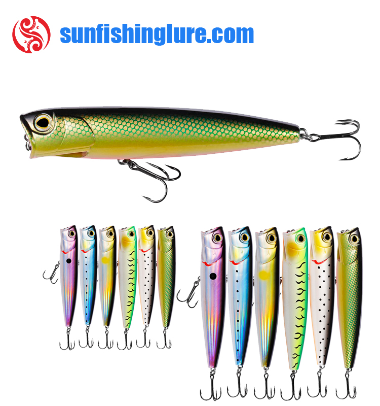 Hard body topwater popper lures for freshwater fishing bass trout carp fishing micro popper lure