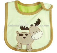 100 cotton interlock fabric baby bib embroidery bibs
