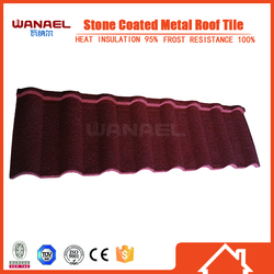 black red concrete Roman stone metal roof tile