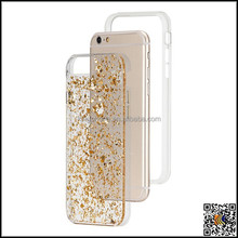 Gold and silver foil PC material hard phone case for iphone6